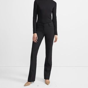 Theory, black flare trouser
